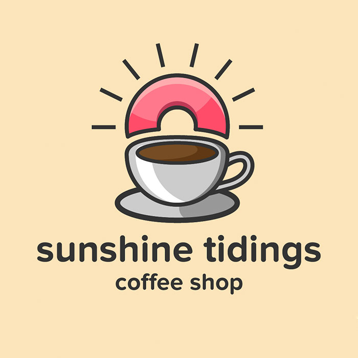 sunshine tidings coffee logo